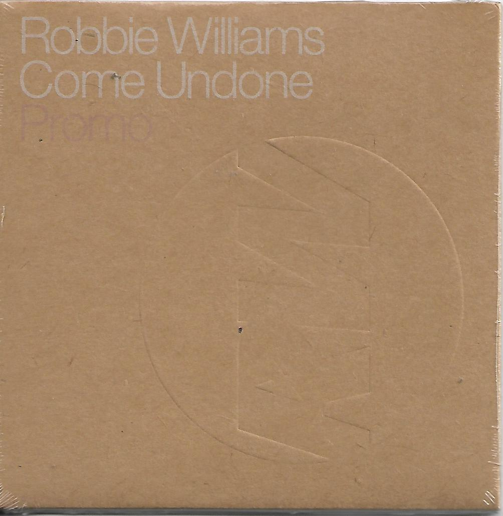 Robbie WILLIAMS - Come Undone Promo 2 Tracks Card Sleeve
