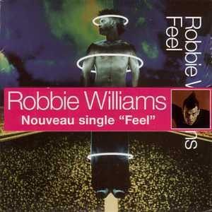 Robbie WILLIAMS - Feel 2 Tracks Card Sleeve French Sticker