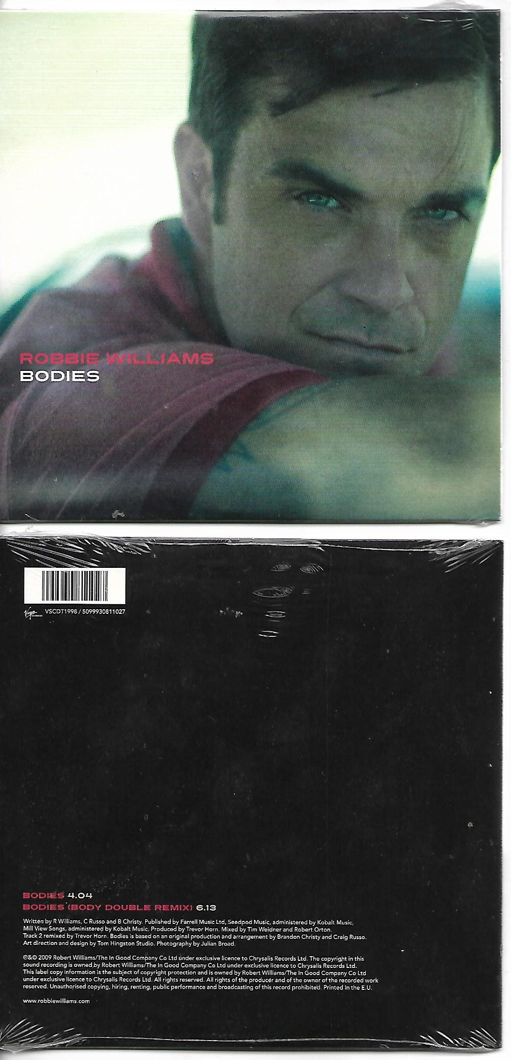 Robbie WILLIAMS - Bodies 2-track Card Sleeve