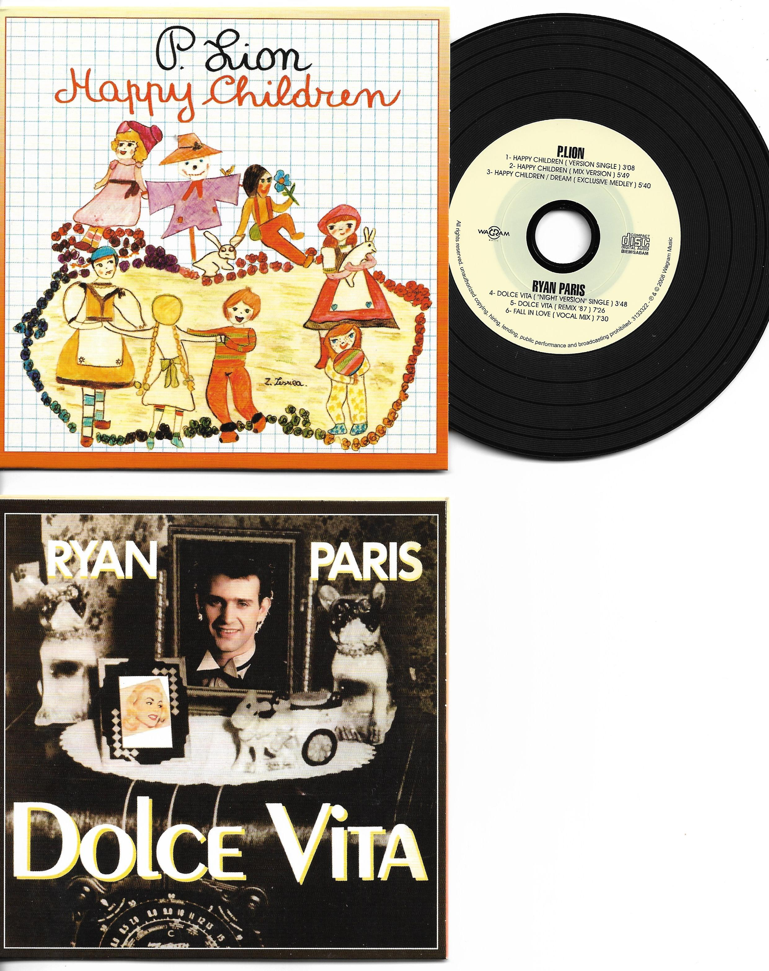 RYAN PARIS -  P. LION - Dolce vita / Happy children special reissue CARD SLEEVE 6-track - CD single