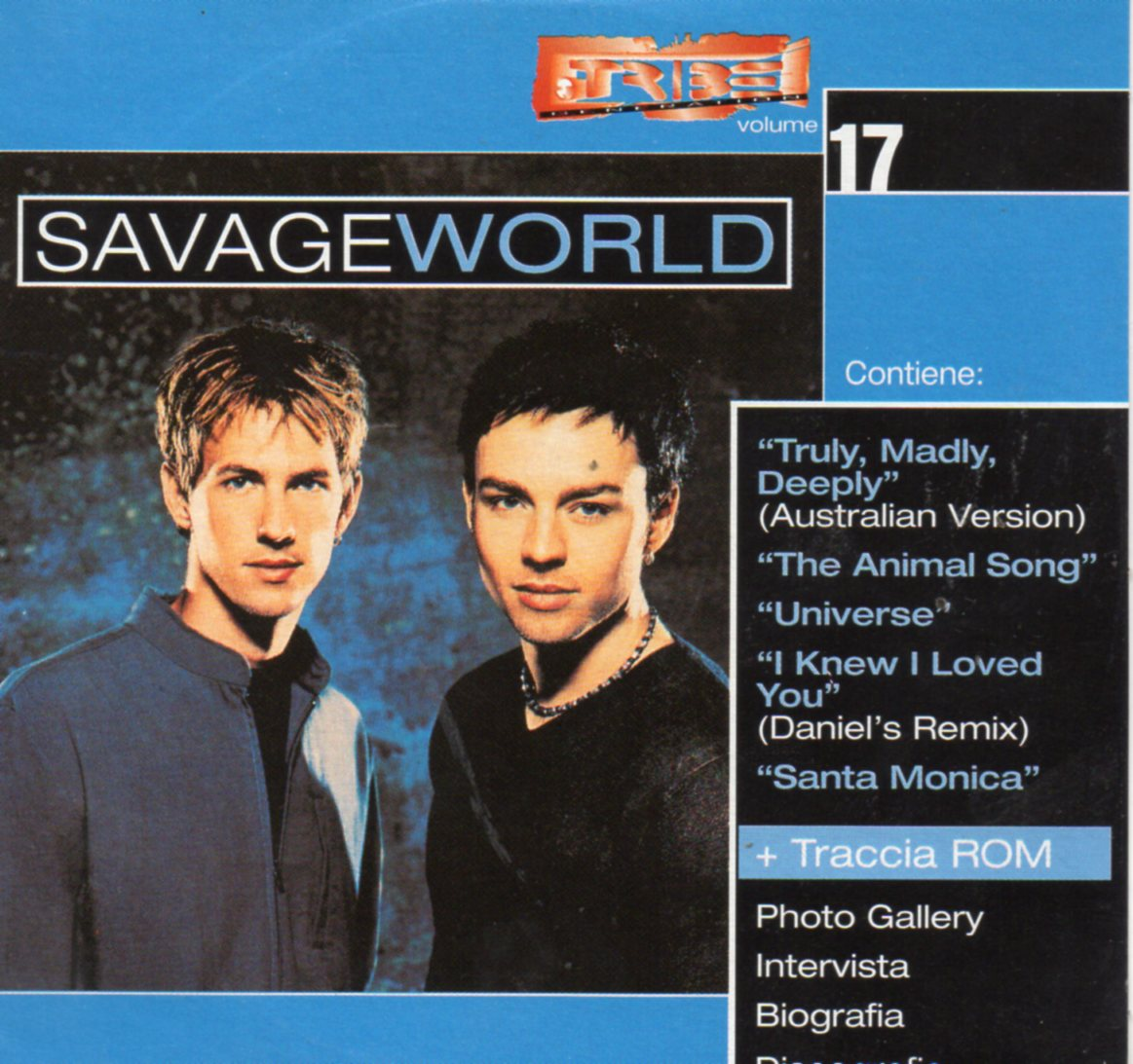 SAVAGE GARDEN - I Want You 2 Tracks Card Sleeve