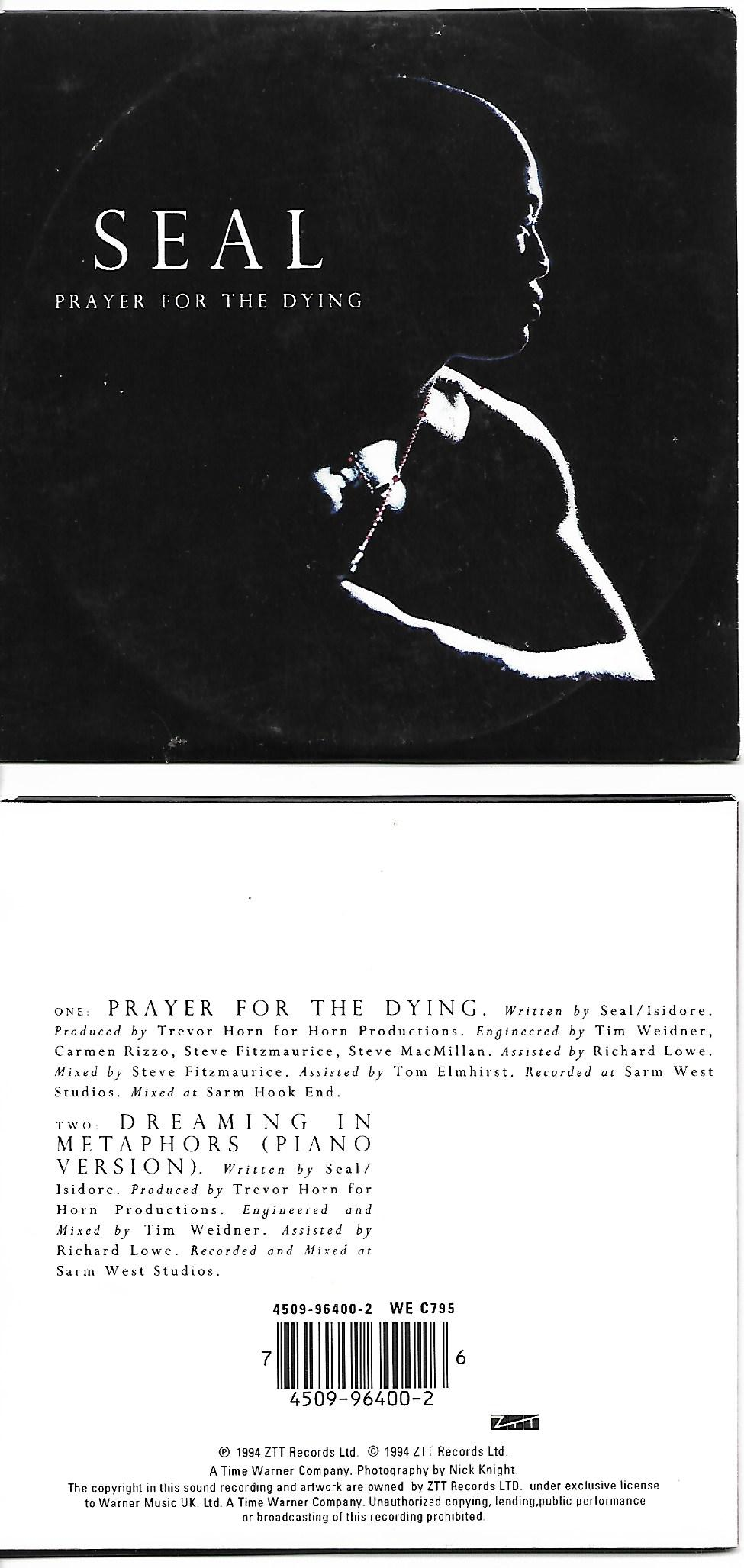 Seal - Prayer For The Dying 2 Tracks Card Sleeve