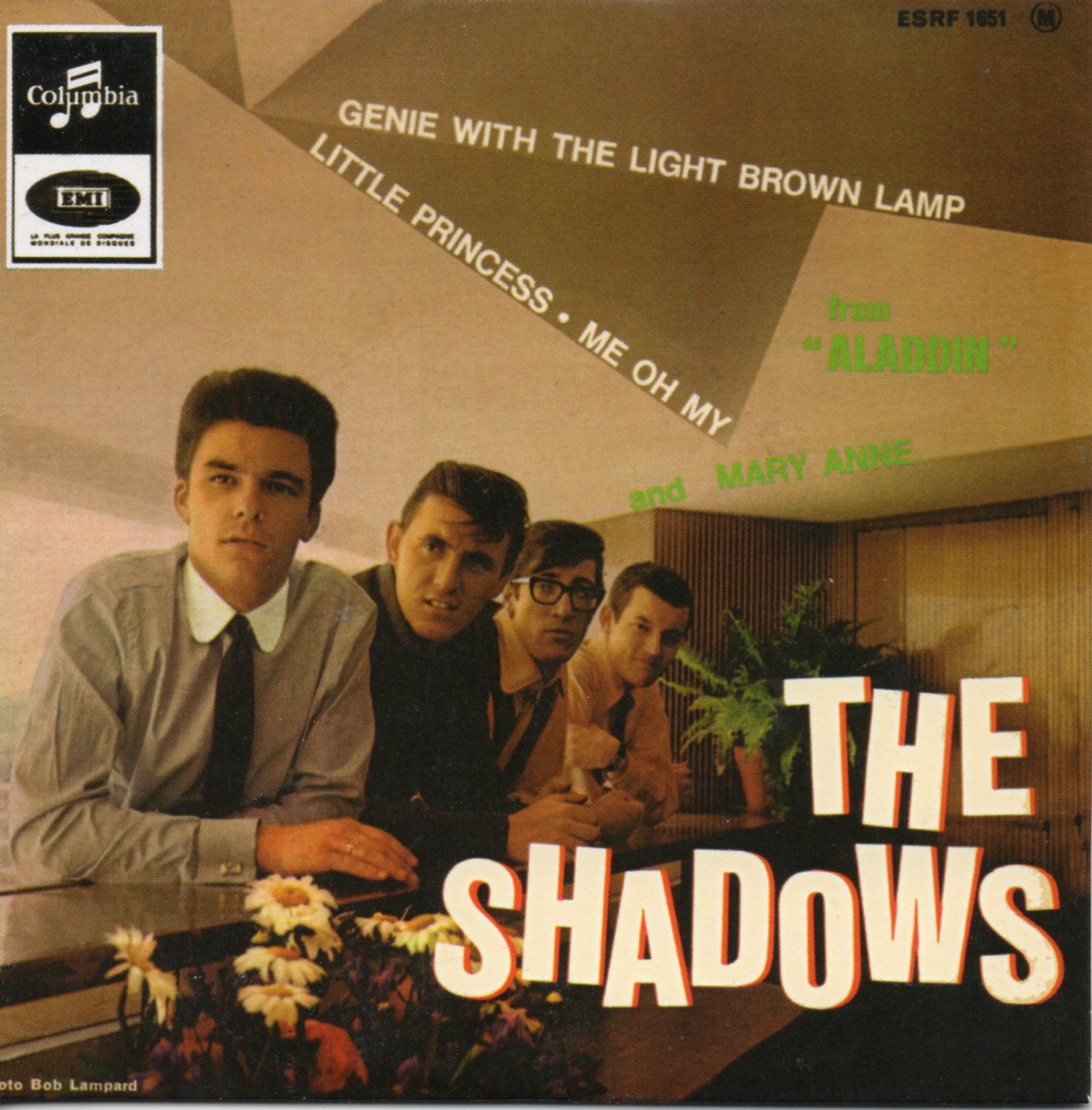 THE SHADOWS - Genie With The Light Brown Lamp - EP REPLICA - 4-track CARD SLEEVE - CD single