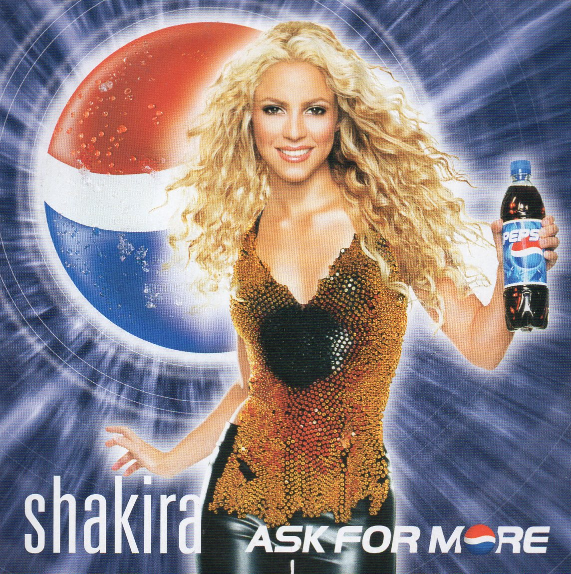 SHAKIRA - Ask for more 2-TRACK CARD SLEEVE - PEPSI Limited Edition - - CD single