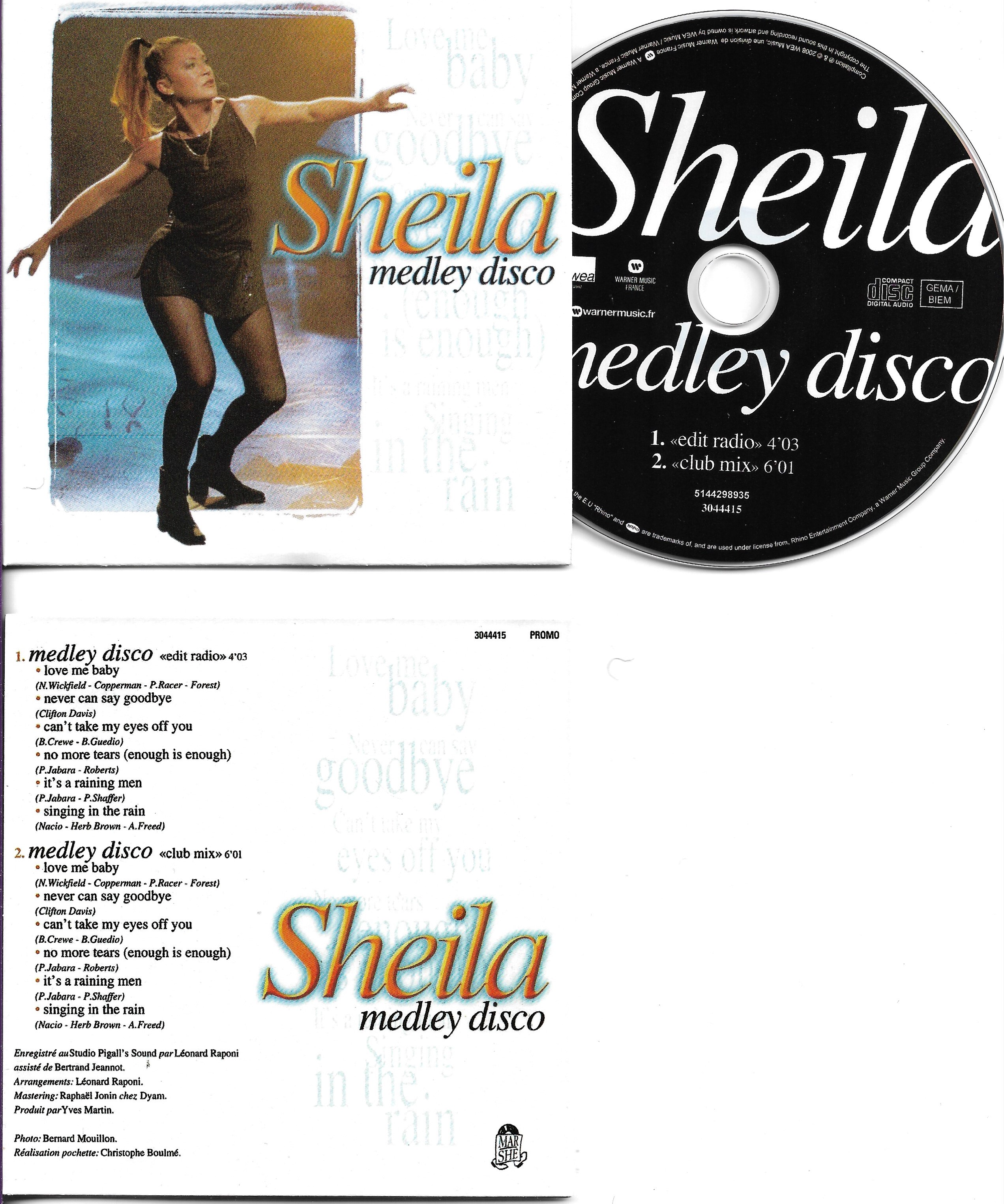 SHEILA B. DEVOTION - Medley Disco 2-track CARD SLEEVE - CD single