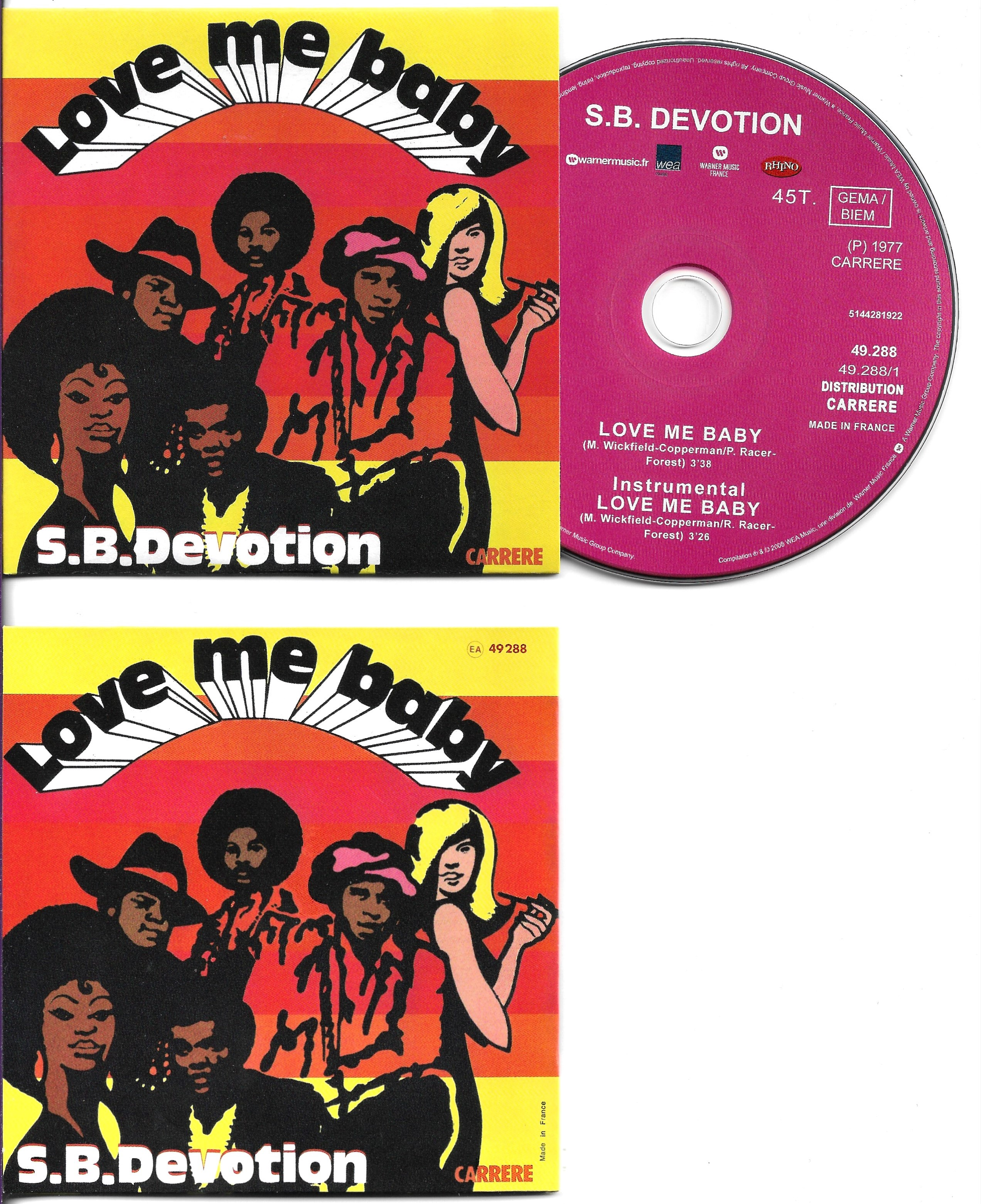 SHEILA B. DEVOTION - Love Me Baby 2-track Card Sleeve