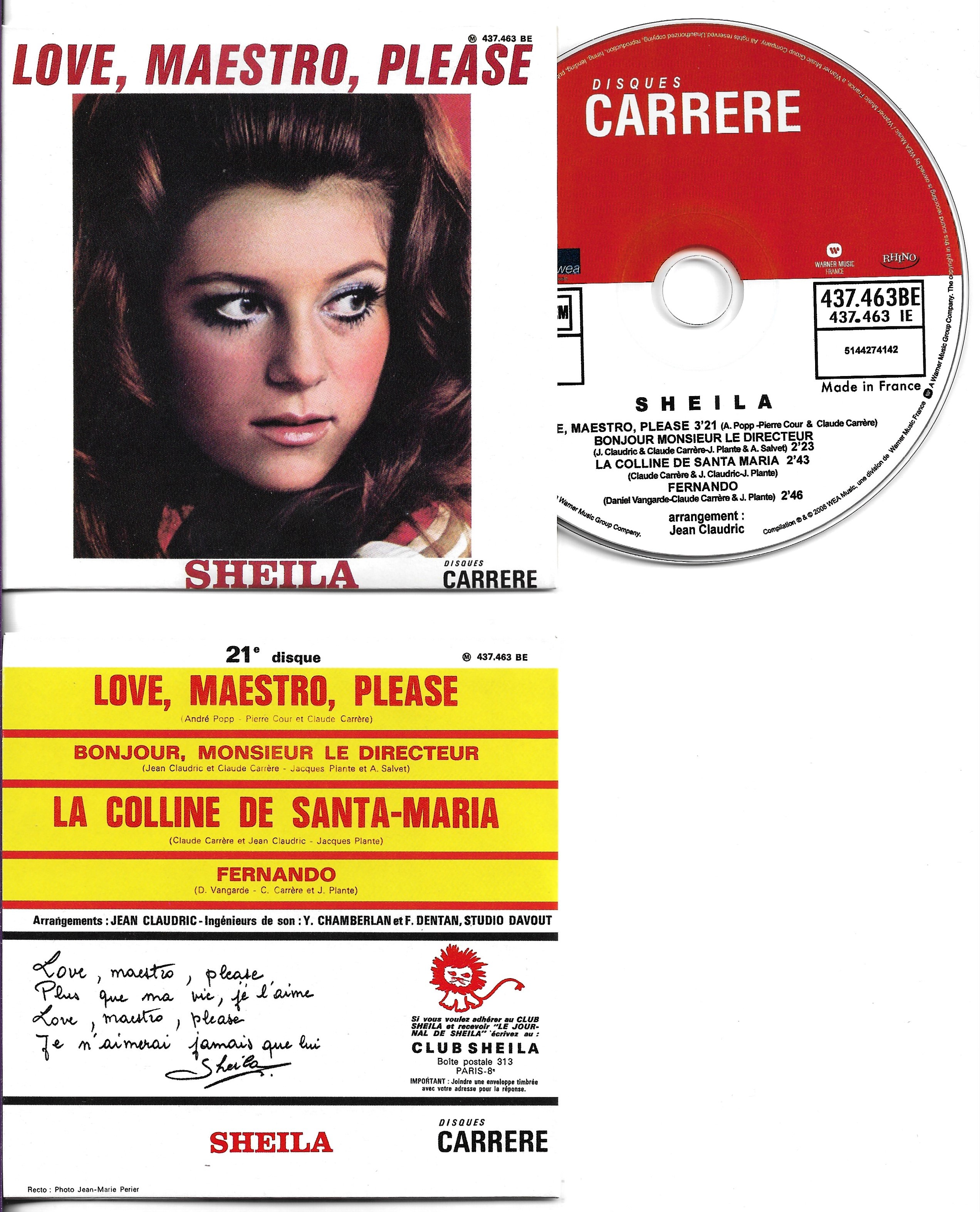 SHEILA - Love, Maestro Please - Ep 4-track Card Sleeve