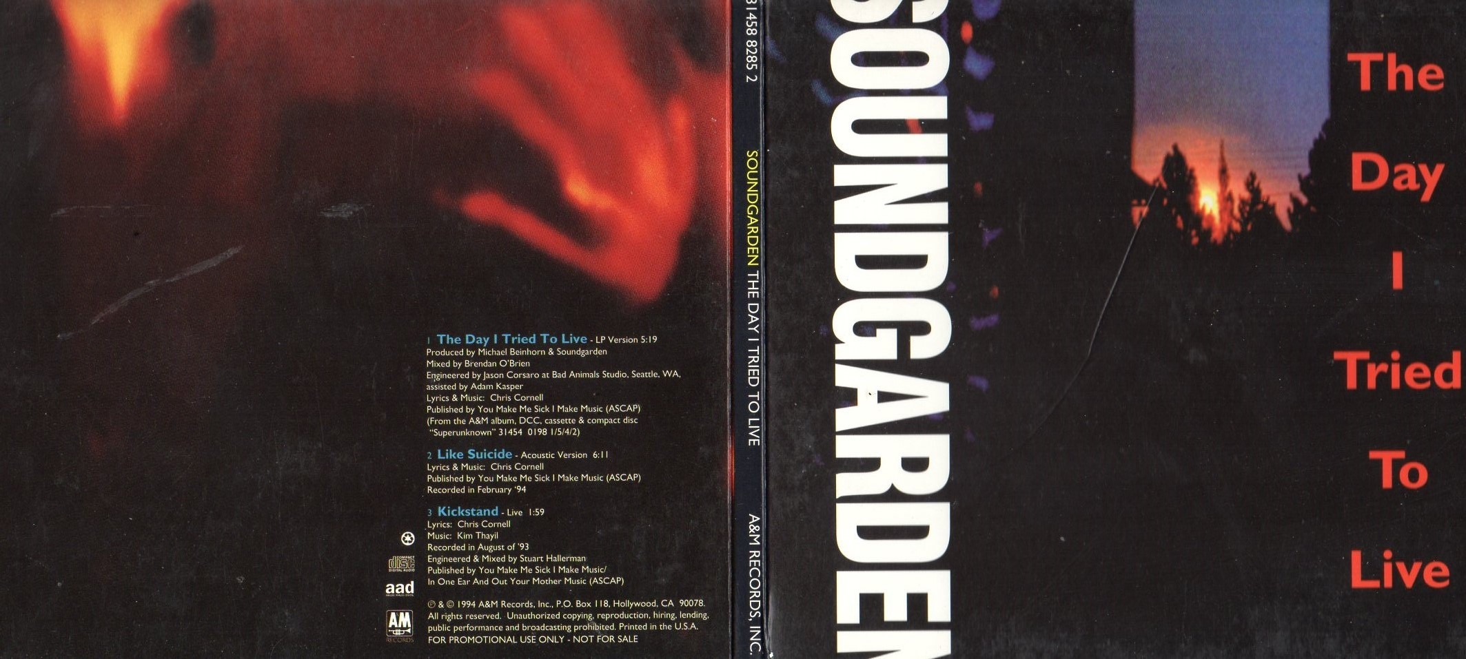 Soundgarden The Day I Tried To Records Lps Vinyl And Cds