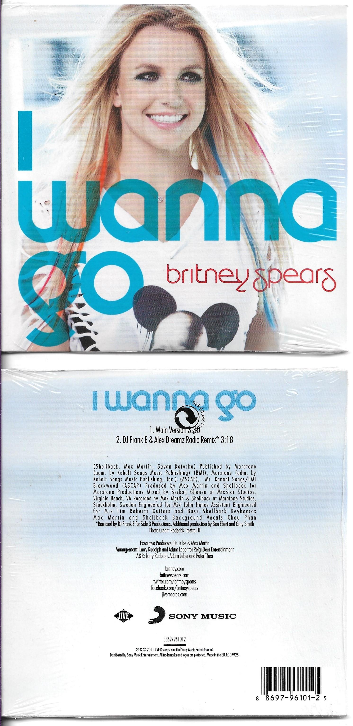 BRITNEY SPEARS - I wanna go 2-track CARD SLEEVE - CD single