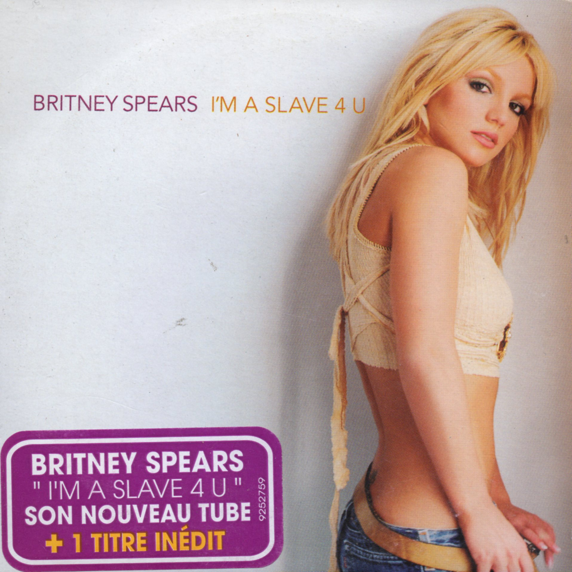 BRITNEY SPEARS - I''m A Slave 4 U 2-TRACK CARD SLEEVE with French Sticker - CD single