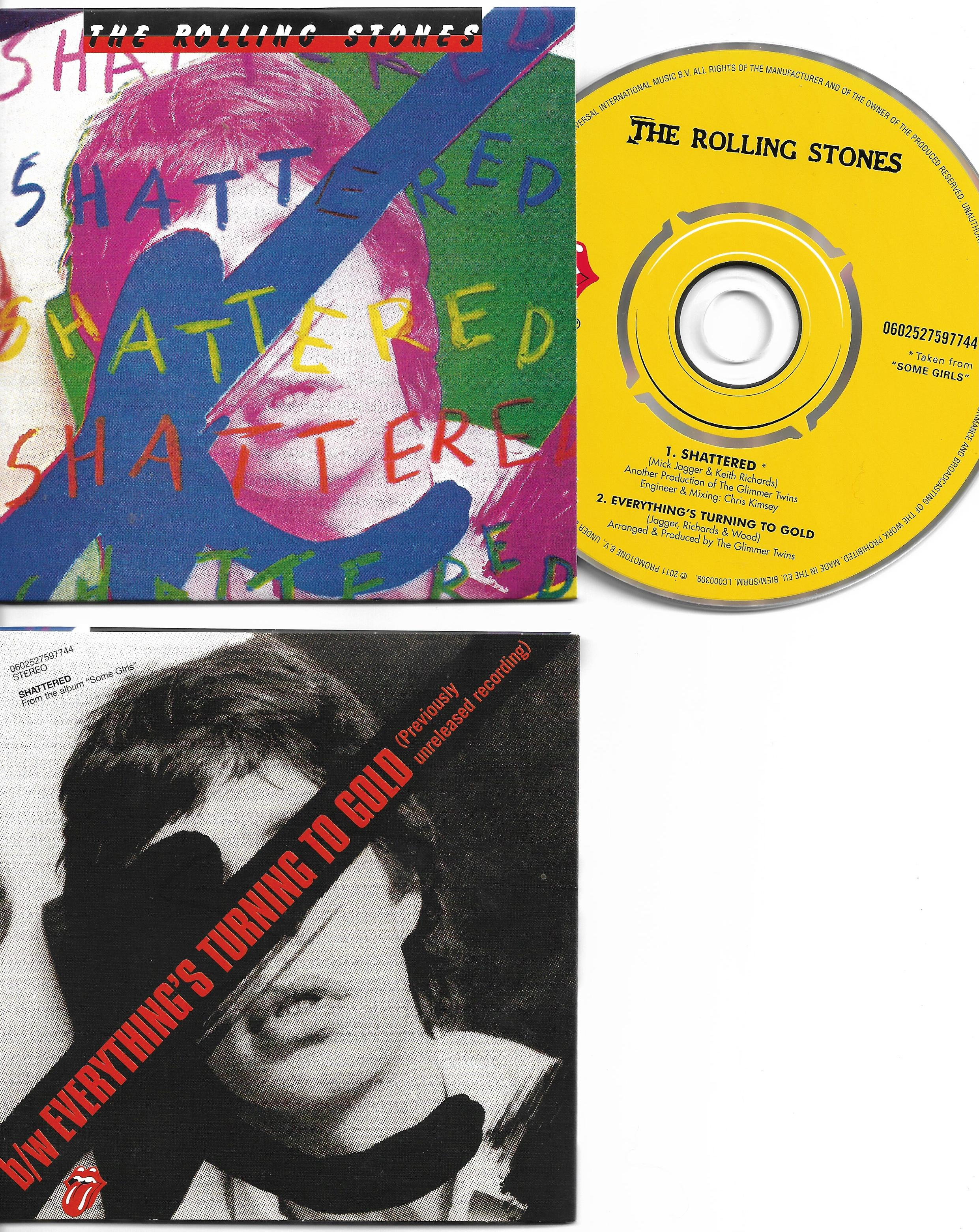 THE ROLLING STONES - Shatered 2-track CARD SLEEVE - CD single