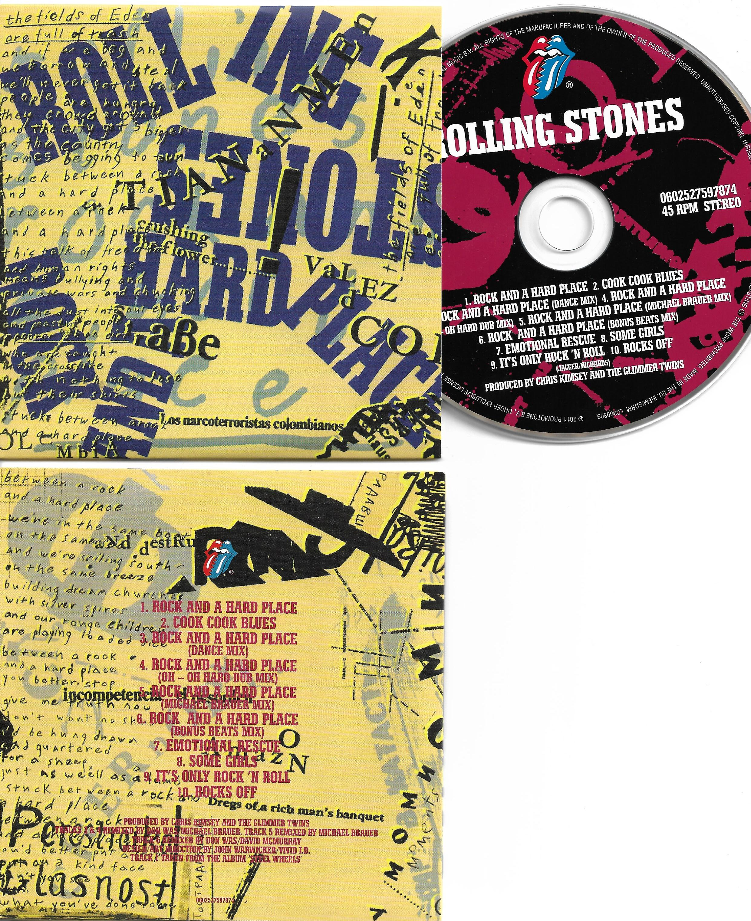 THE ROLLING STONES - Rock and a hard place - REMIXES - 10-track CARD SLEEVE - CD single