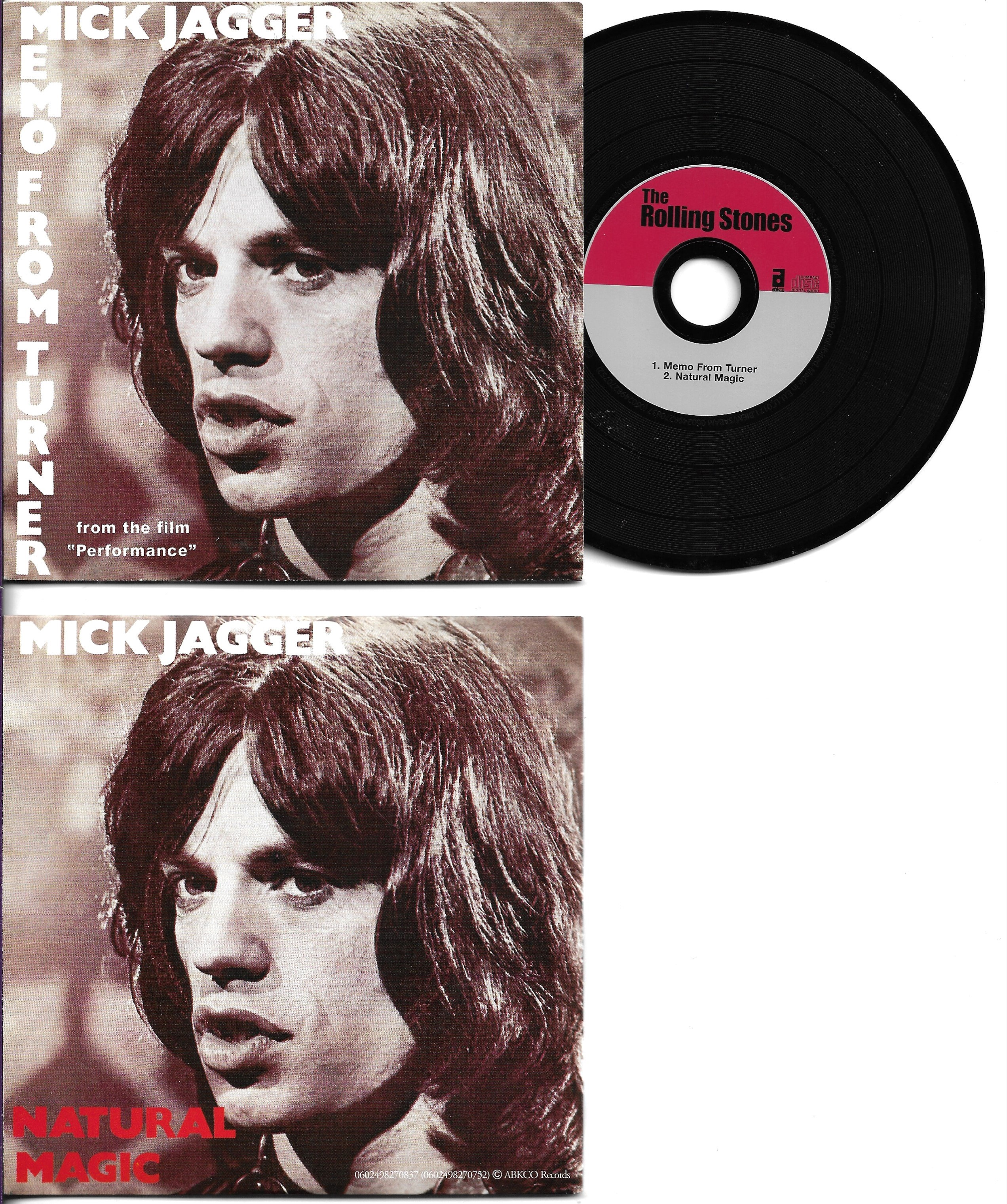 THE ROLLING STONES - MICK JAGGER - SOUNDTRACK : PE - Memo from turner 2-track CARD SLEEVE - CD single