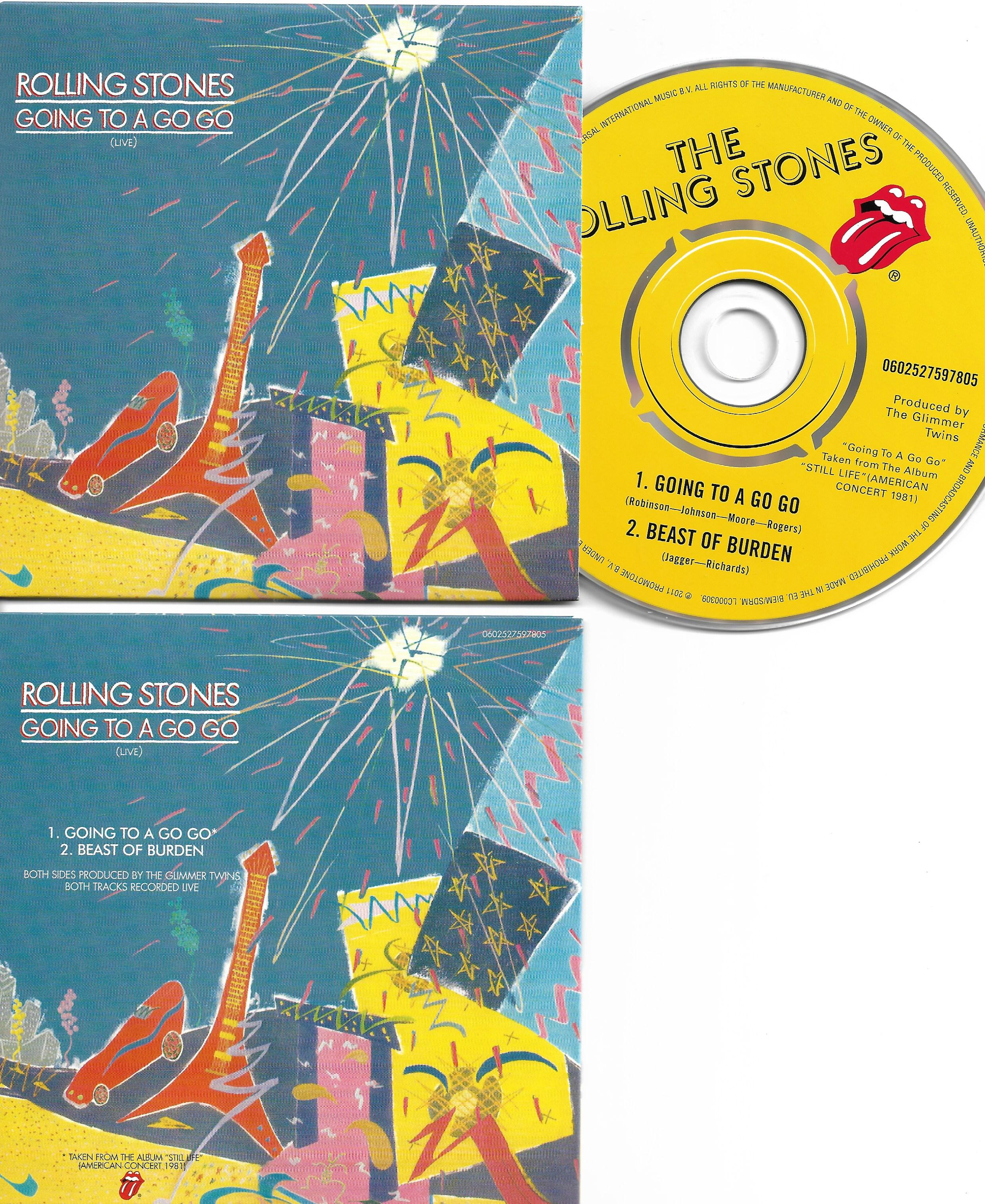 THE ROLLING STONES - Going to a go go 2-track CARD SLEEVE - CD single