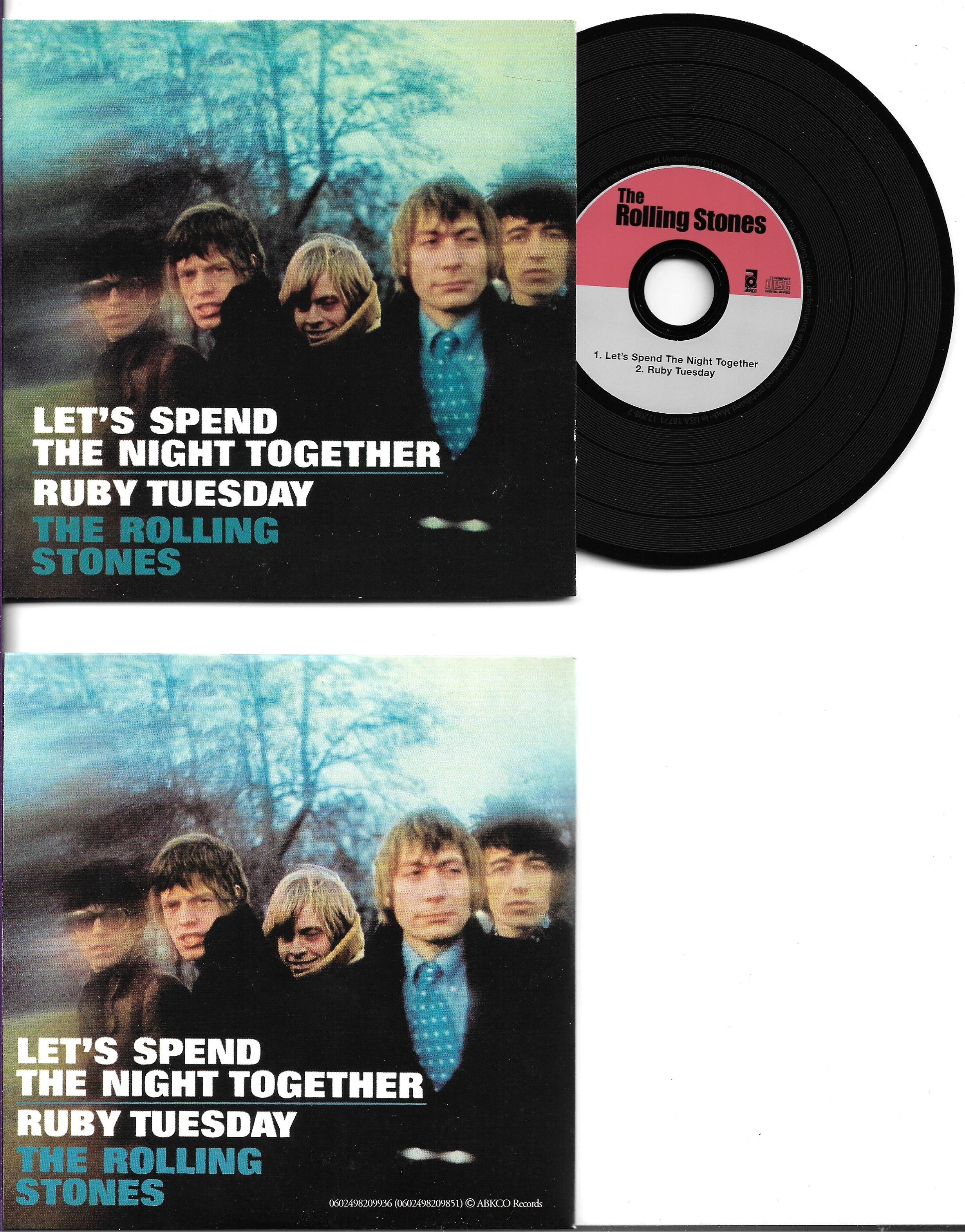 THE ROLLING STONES - Let's spend the night together 2-track CARD SLEEVE - CD single