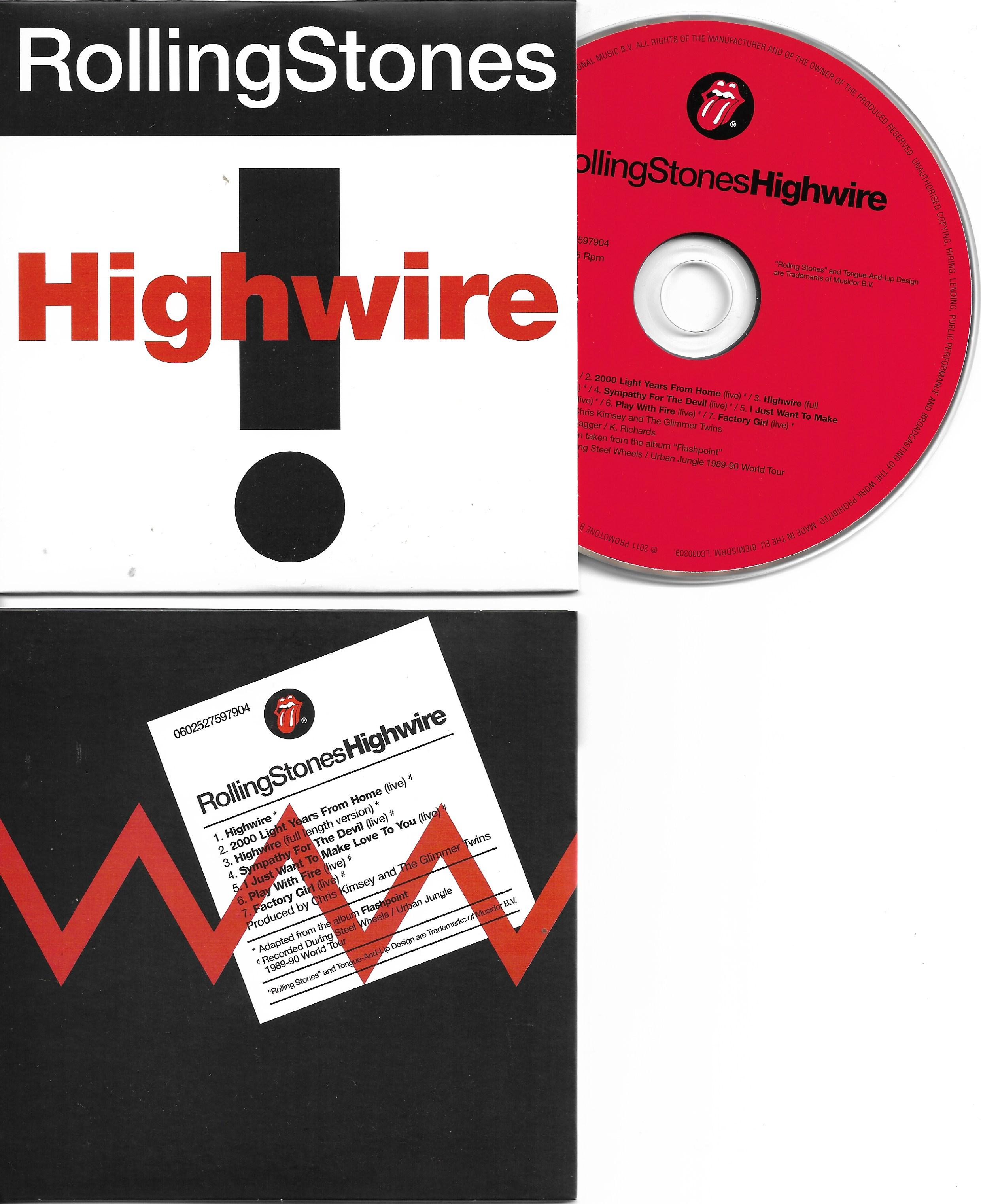 THE ROLLING STONES - Highwire - 7-track CARD SLEEVE - CD single