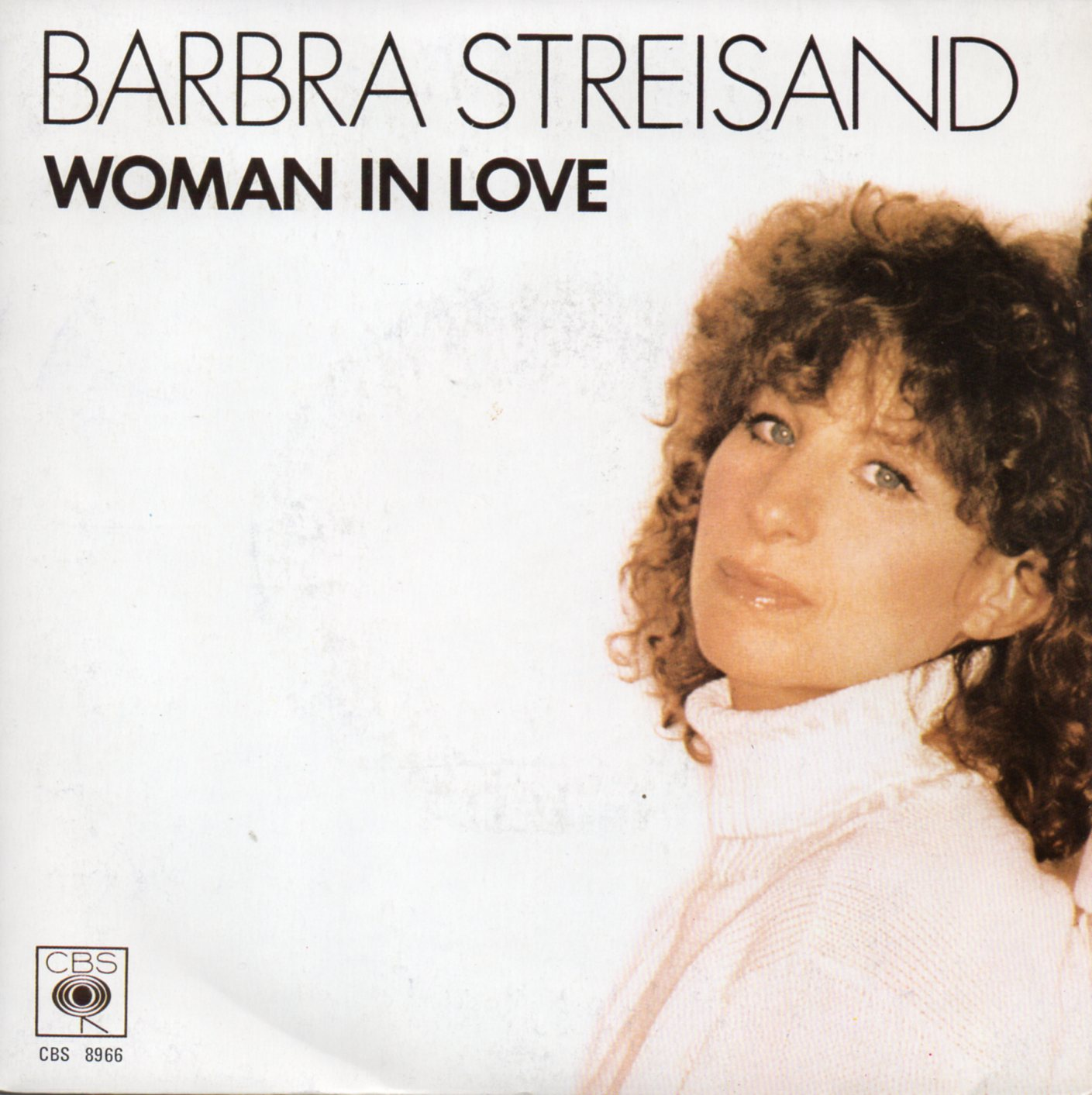 BARBRA STREISAND - Woman in love Paper label - 45T (SP 2 titres)