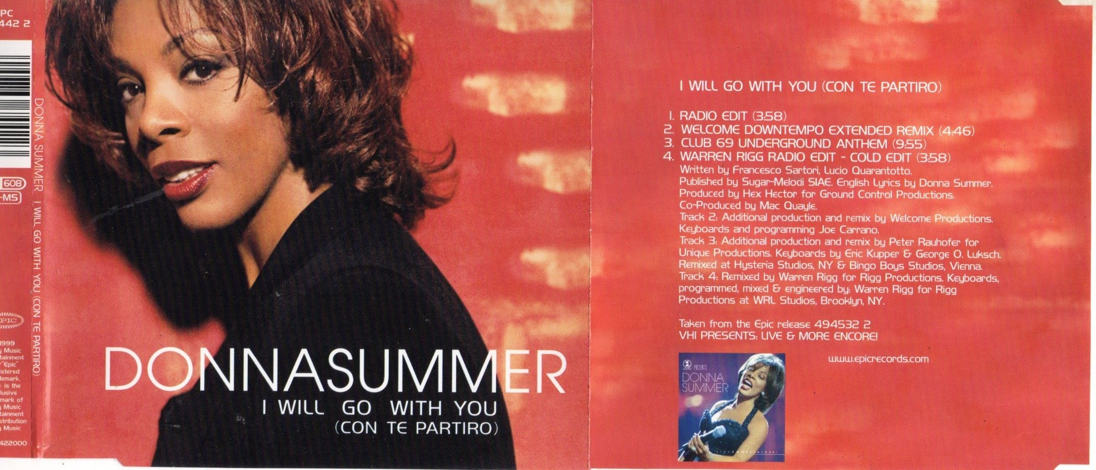DONNA SUMMER - I will go with you 4 remixes Jewel case - CD Maxi