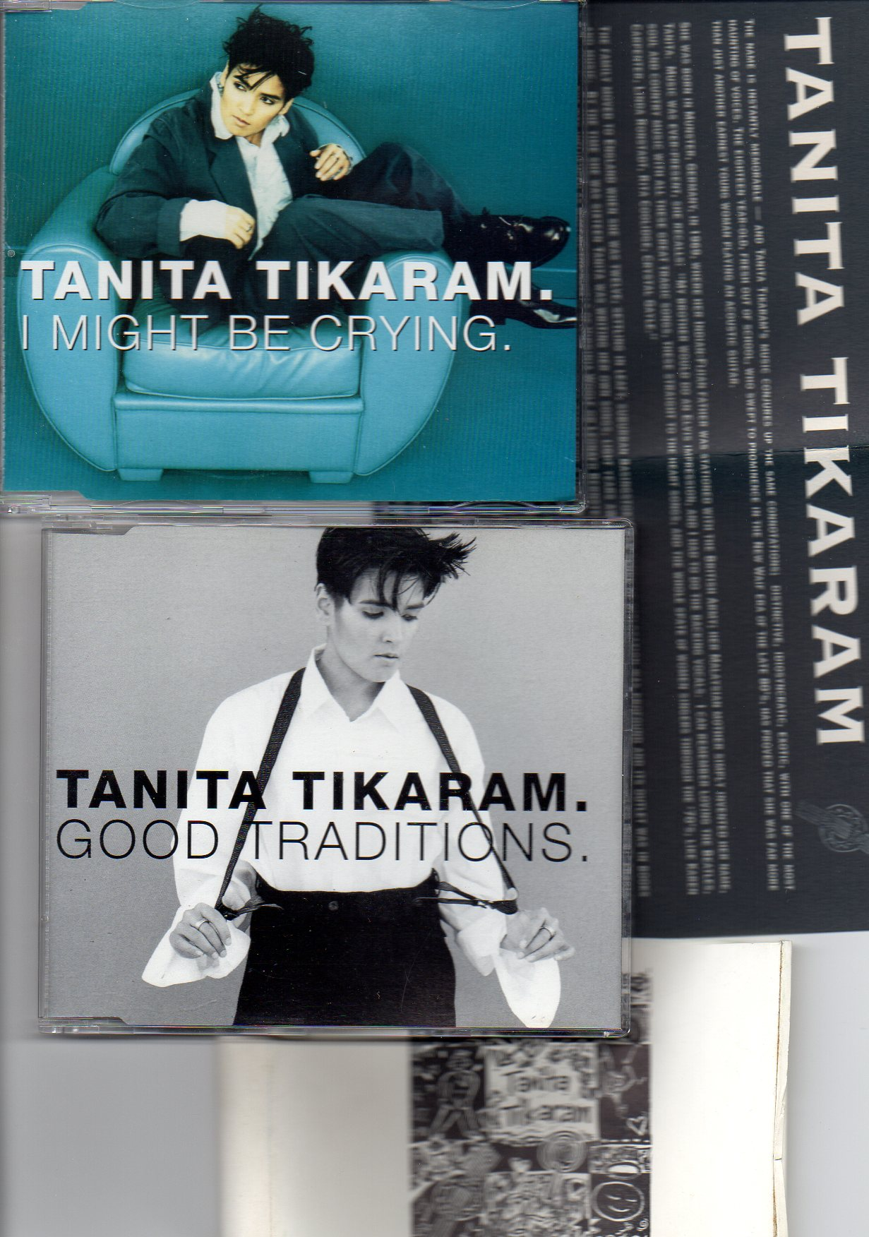 TANITA TIKARAM - Good traditions - I might be crying - set of 2 Promo singles inc leaflet - MCD