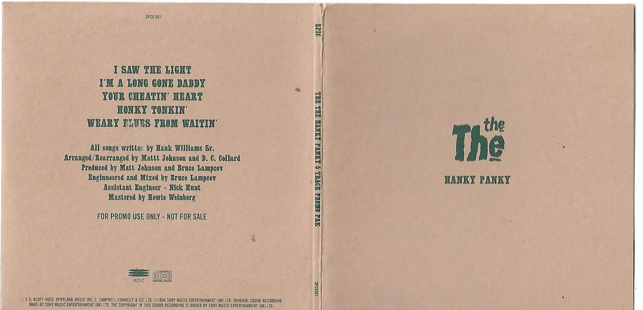 THE - Hanky Panky Sampler 5-track Card Sleeve