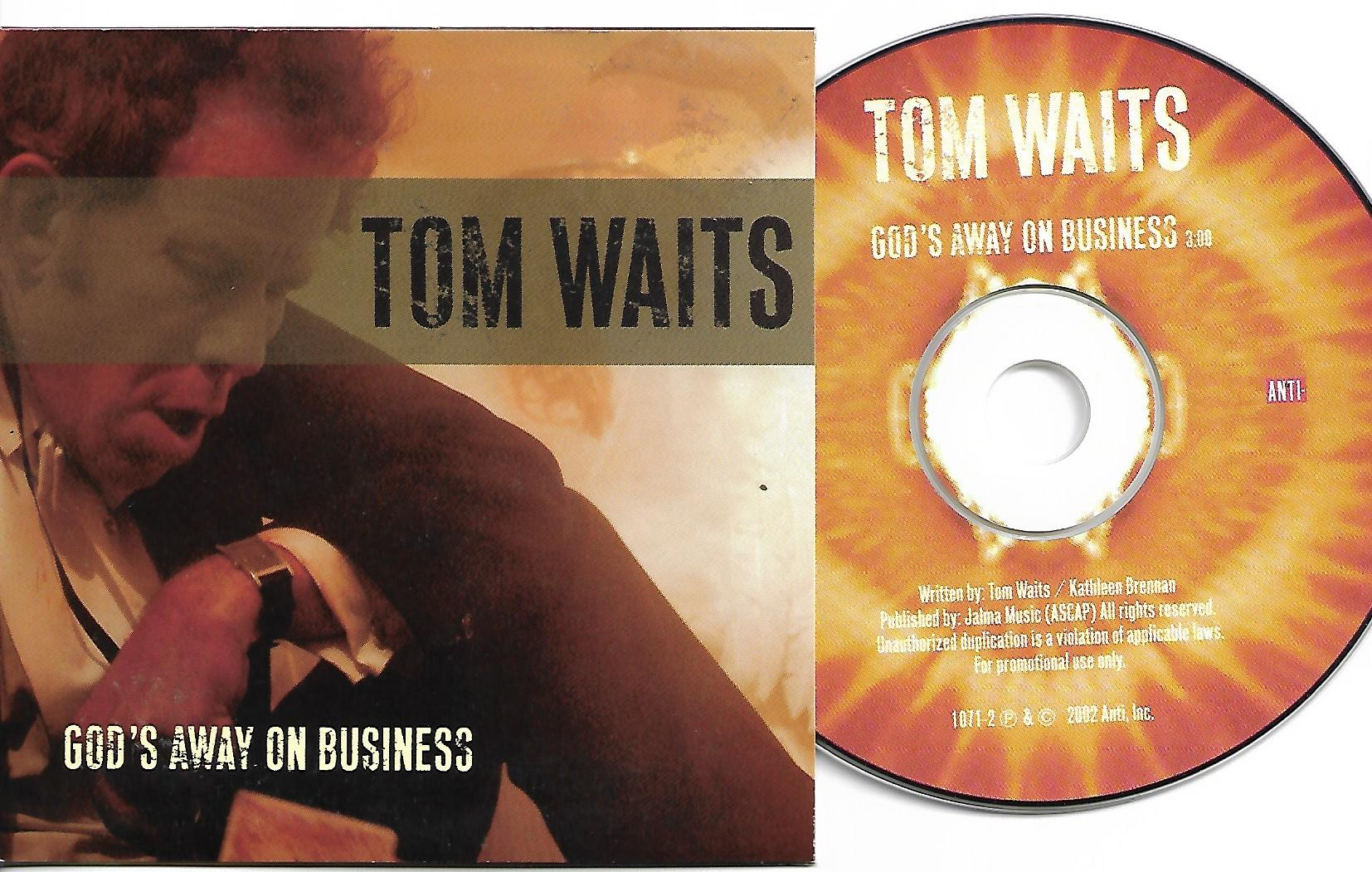 Tom WAITS - God's Away On Business Promo 1-track Card Sleeve