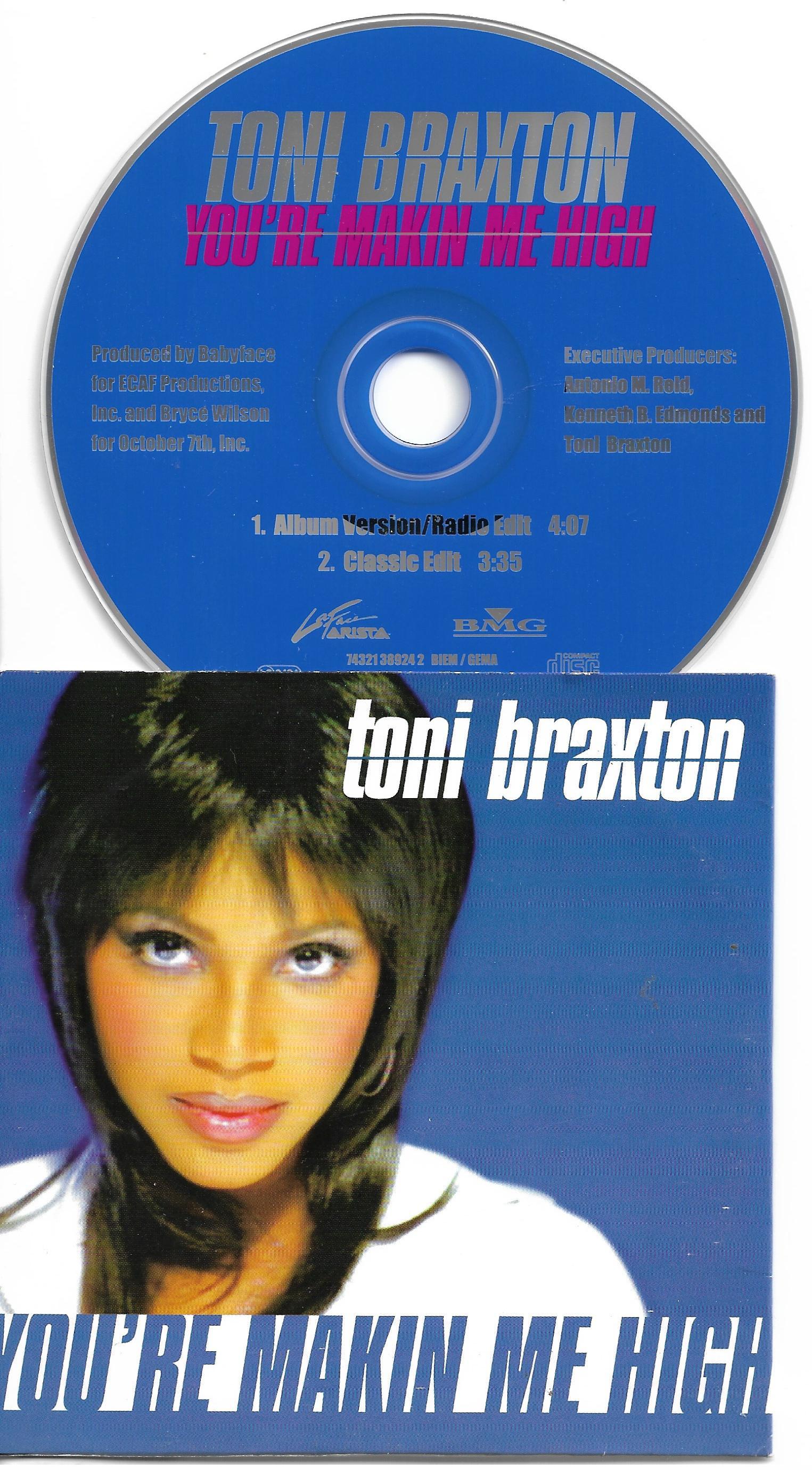 Resultado de imagen para toni braxton You're Makin' Me High (Eu Maxi-Single)