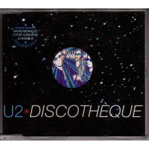 U2 - Discotheque 4 Tracks Jewel Case Sticker