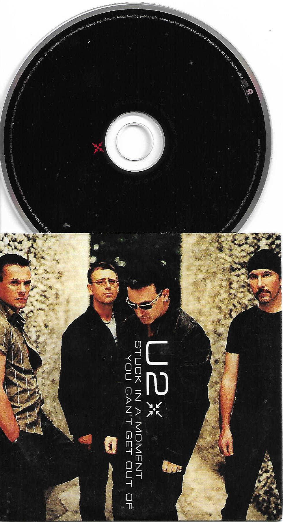 U2 - Stuck In A Moment 2 Tracks Card Sleeve