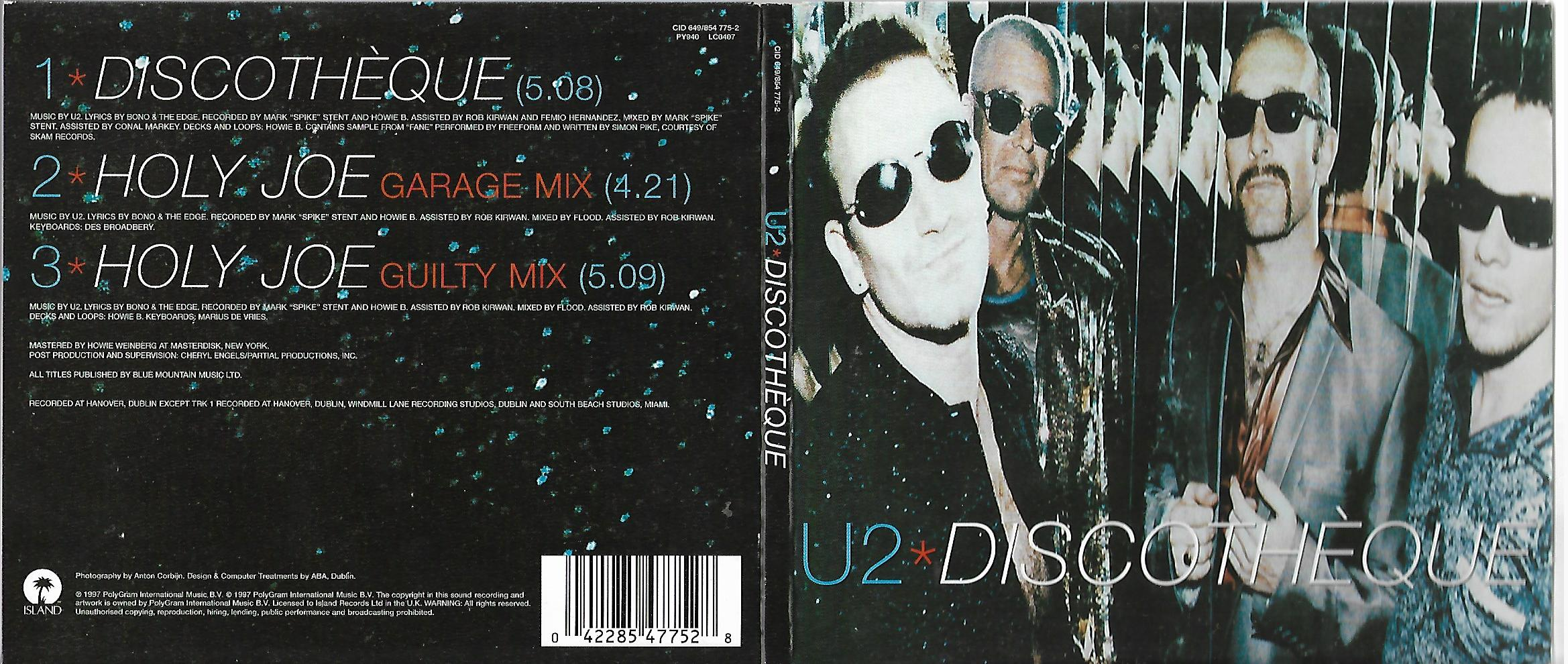 U2 - Discotheque Ltd Ed 3 Tracks Digipack