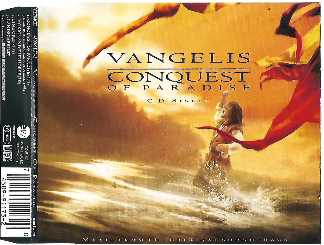 VANGELIS - Conquest of paradise 4 Tracks jewel case - CD Maxi