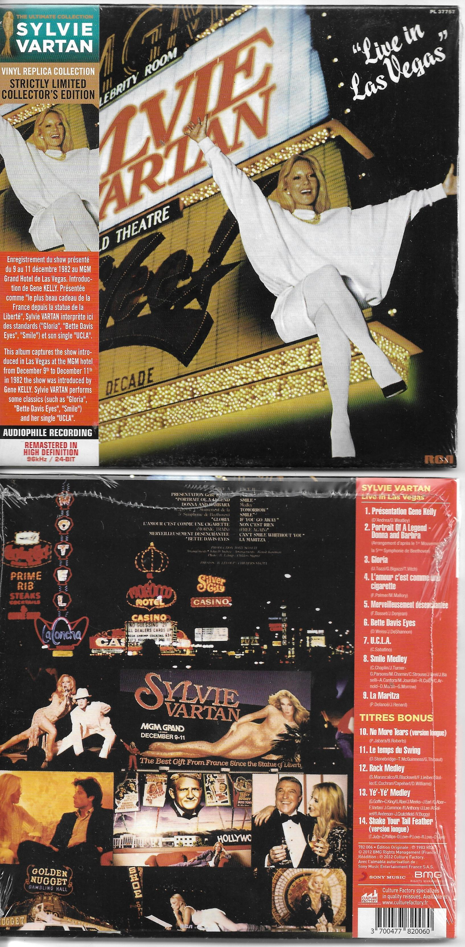 SYLVIE VARTAN - Live in Las Vegas - Mini LP - REMASTERED - Ltd Ed - 14 -track - inc 5 bonus tracks - CD