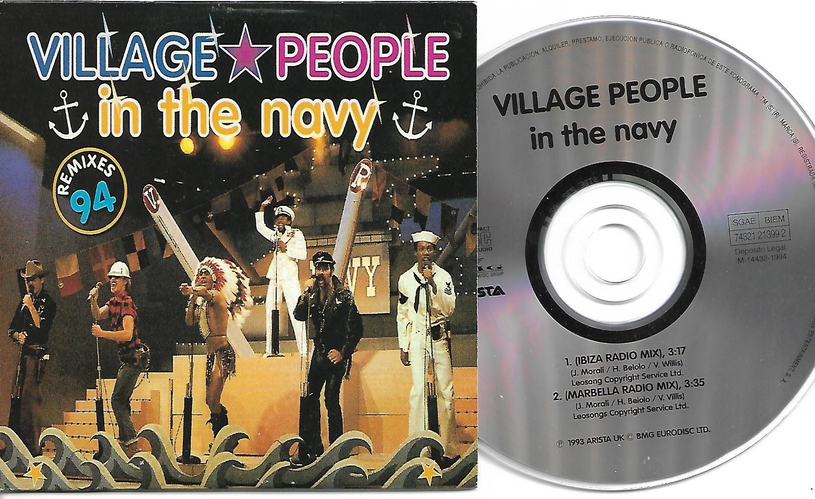 VILLAGE PEOPLE - In The Navy Remixes 94 Card Sleeve - Spain -