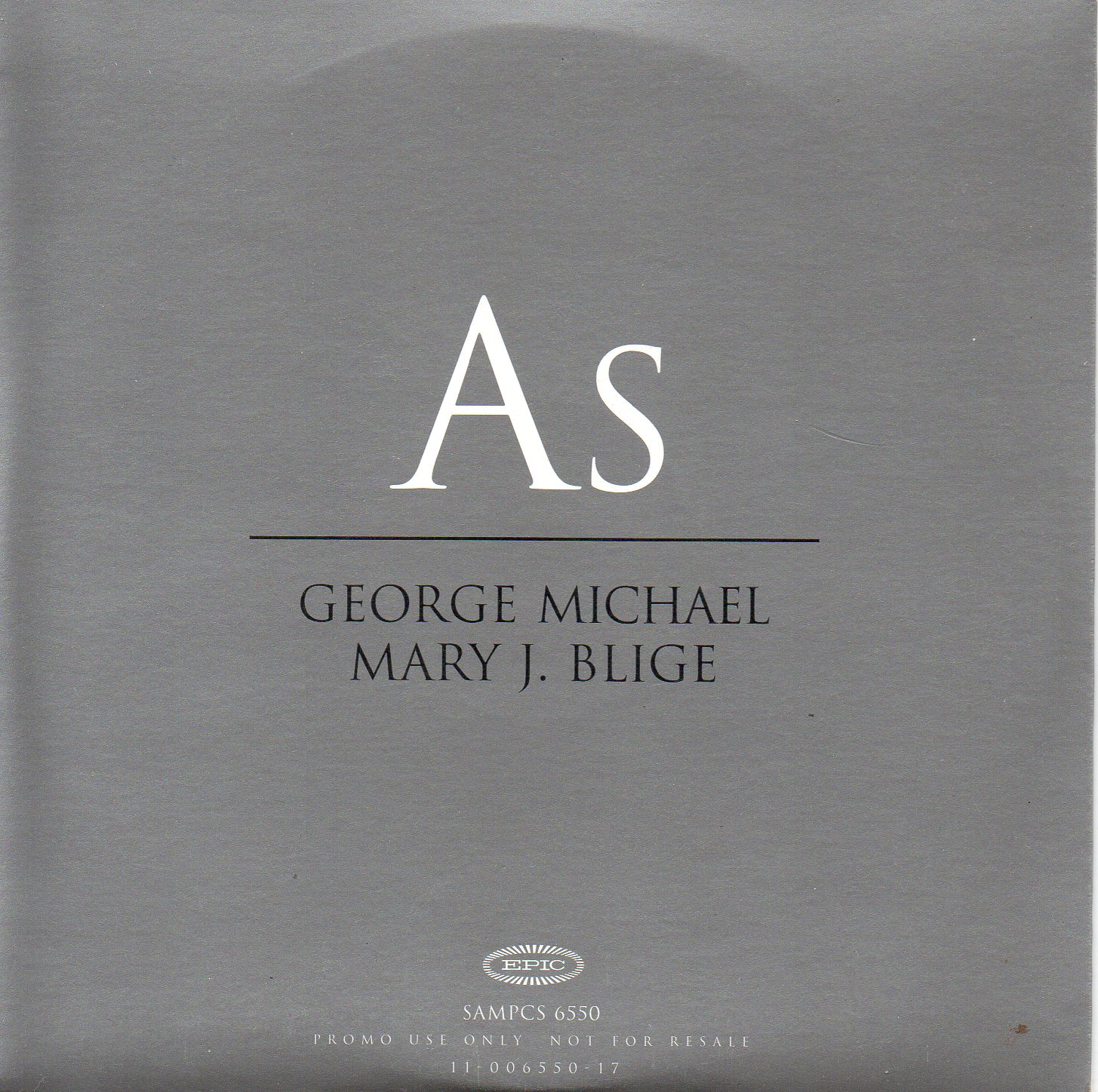 George MICHAEL &amp; Mary J. BLIGE - As Promo 1-track Card Sleeve