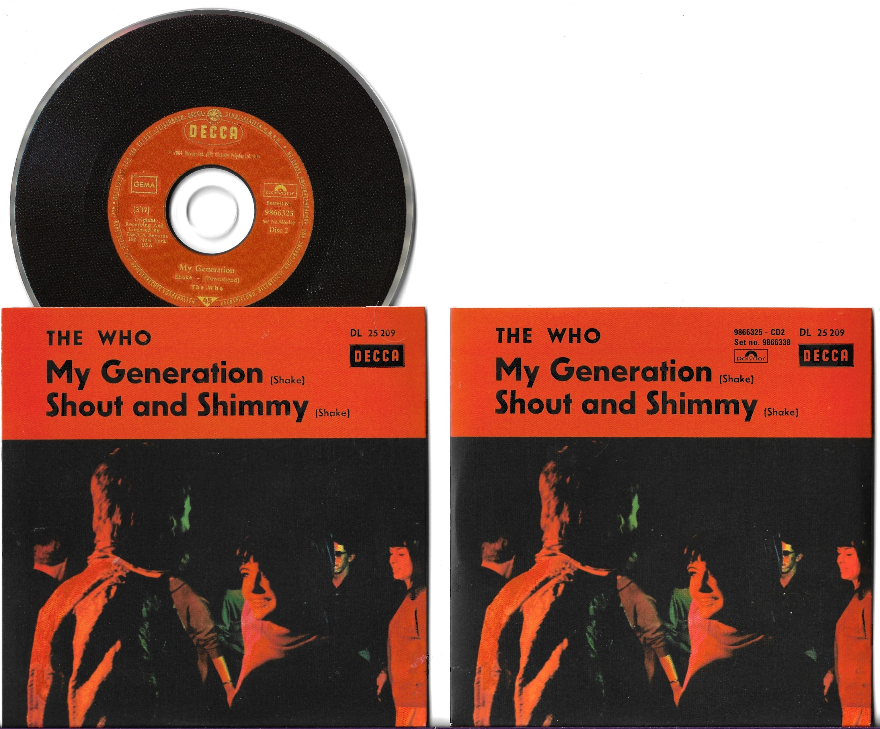WHO - My Generation - Shout And Shimmy 2-track Card Sleeve