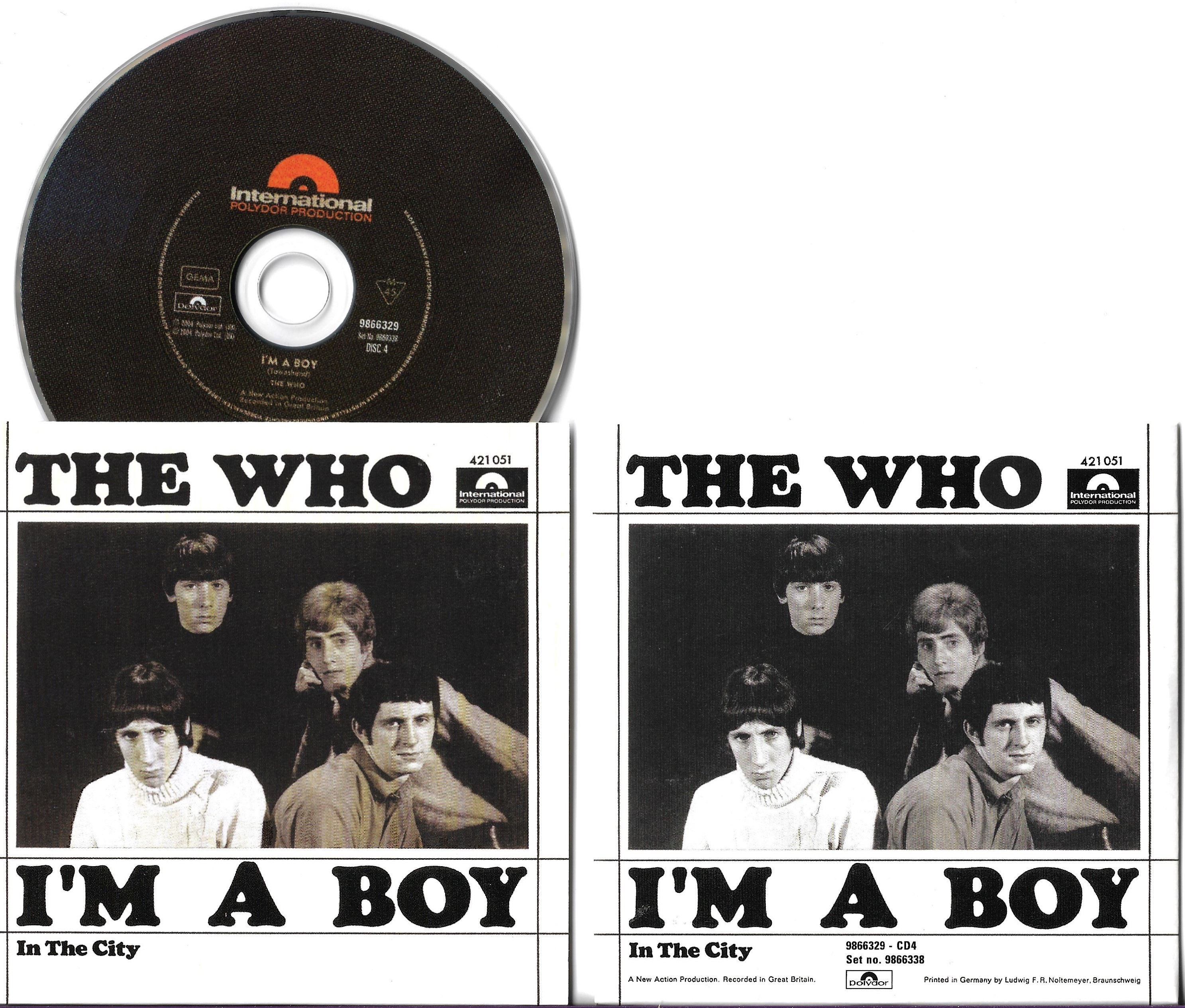 WHO - I'm A Boy - In The City - 2-track Card Sleeve