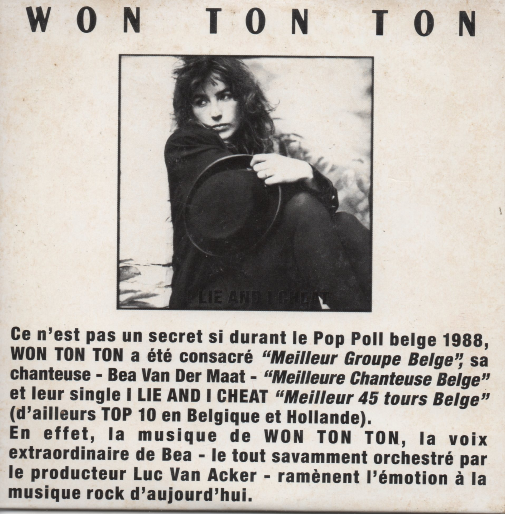 WON TON TON - I Lie And I cheat 3-Track card sleeve - PROMO - CD single